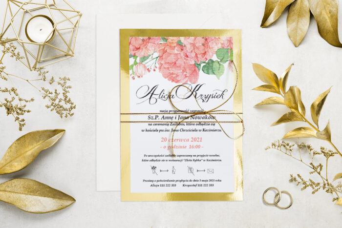 eleganckie-zaproszenie-slubne-kwiatyzloto-wzor-1-podkladki-podkladka-srebrna-b6-papier-matowy-350g-koperta-b6-szara-bez-wklejki-dodatki-sznurek-zloty-metalizowany