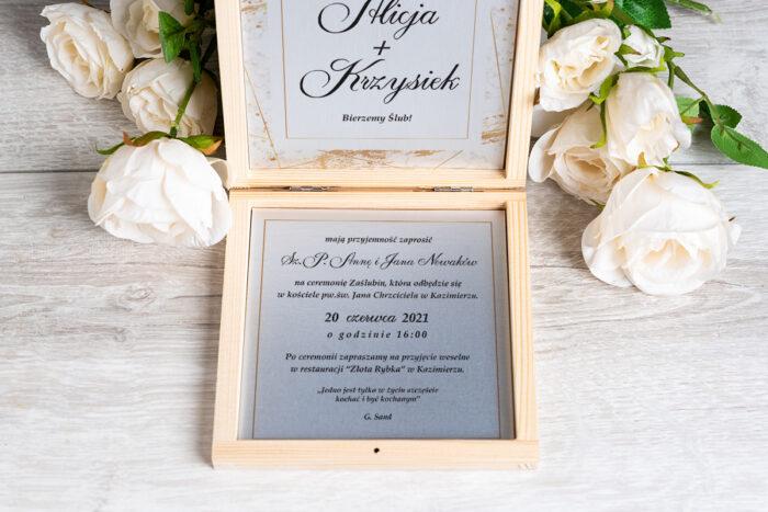 Zaproszenie ślubne w pudełeczku - wzór 10