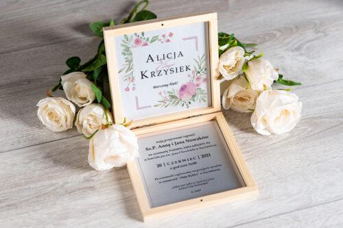 Zaproszenie ślubne w pudełeczku - wzór 12