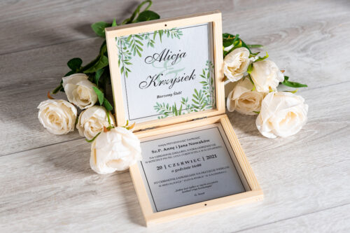 Zaproszenie ślubne w pudełeczku - wzór 13