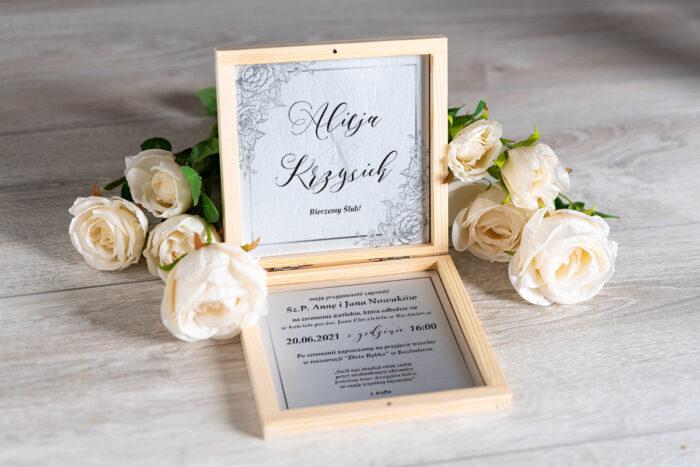 Zaproszenie ślubne w pudełeczku - wzór 2