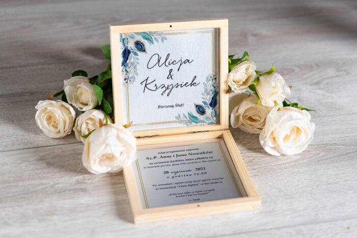 Zaproszenie ślubne w pudełeczku - wzór 4