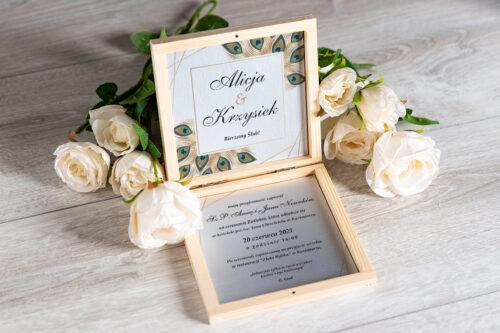 Zaproszenie ślubne w pudełeczku - wzór 5