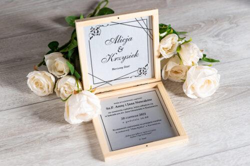 Zaproszenie ślubne w pudełeczku - wzór 7