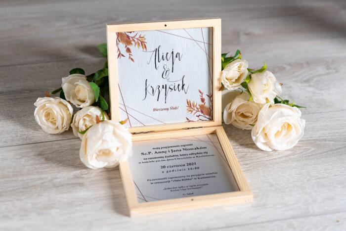 Zaproszenie ślubne w pudełeczku - wzór 8