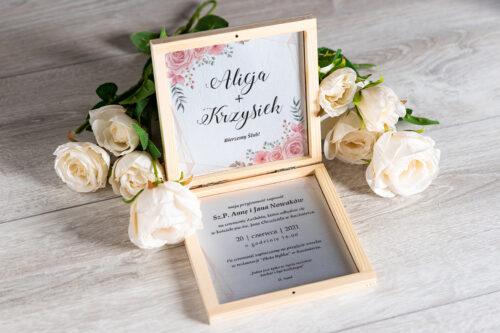 Zaproszenie ślubne w pudełeczku - wzór 9
