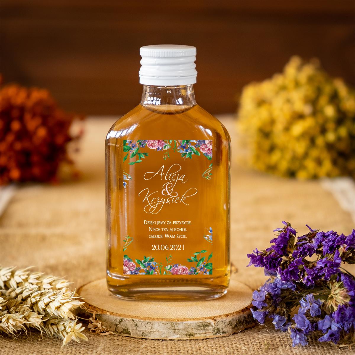 buteleczka-100-ml-na-nalewke-eleganckie-zaproszenie-slubne-z-kokarda-w-kwiaty-buteleczka-100-ml