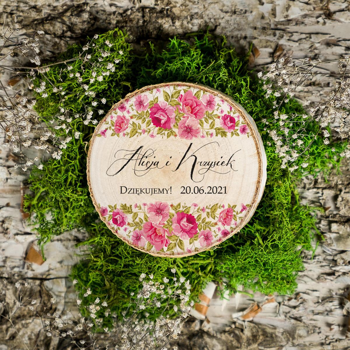 Magnes na plastrze brzozy - Ogrodowe róże