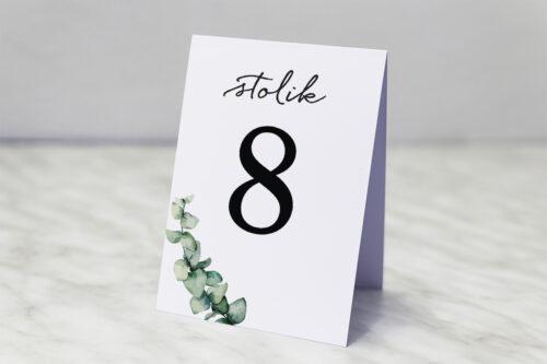 Gałązki eukaliptusa - numer stolika