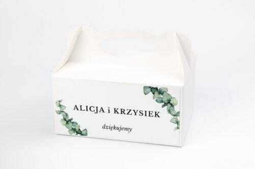Gałązki eukaliptusa - pudełko na ciasto