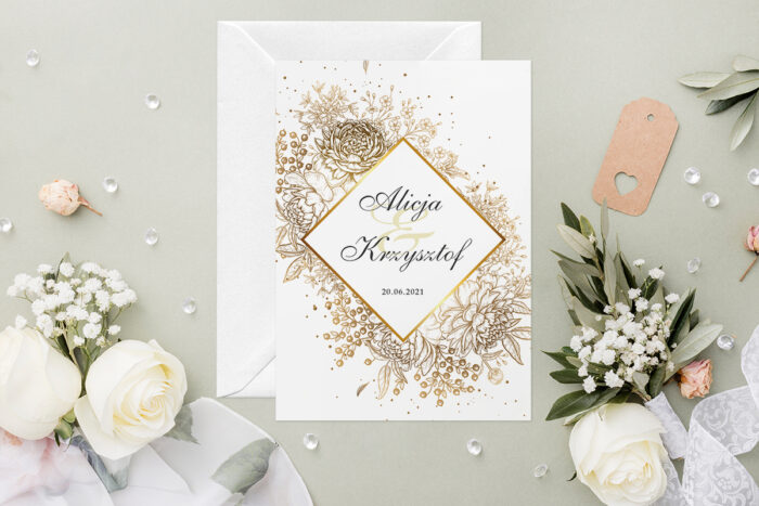 zaproszenie-slubne-geometryczne-kwiaty-wzor-11-papier-satynowany-koperta-c6-biala-bez-wklejki-gratis