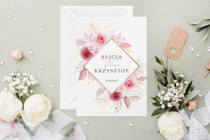zaproszenie-slubne-geometryczne-kwiaty-wzor-7-papier-satynowany-koperta-c6-biala-bez-wklejki-gratis