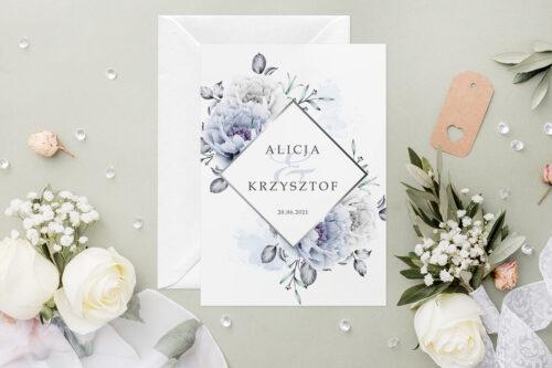 Zaproszenie ślubne - Geometryczne Kwiaty - wzór 8