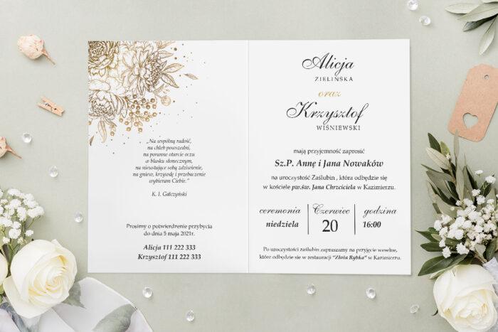 Zaproszenie ślubne - Geometryczne Kwiaty - wzór 11 - środek