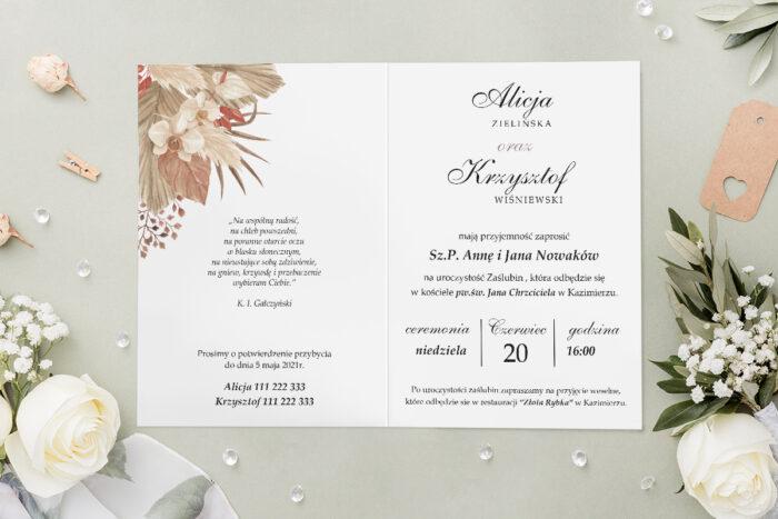 Zaproszenie ślubne - Geometryczne Kwiaty - wzór 12