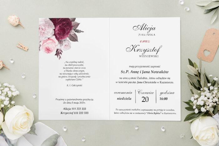 Zaproszenie ślubne - Geometryczne Kwiaty - wzór 14
