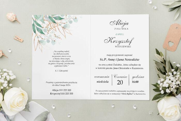Zaproszenie ślubne - Geometryczne Kwiaty - wzór 15