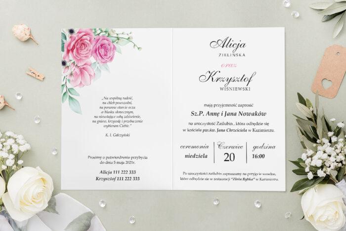 Zaproszenie ślubne - Geometryczne Kwiaty - wzór 2 - środek
