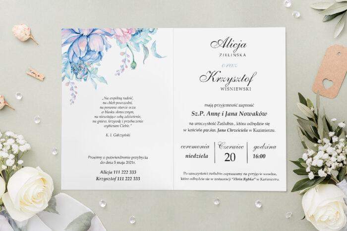 Zaproszenie ślubne - Geometryczne Kwiaty - wzór 3 - środek