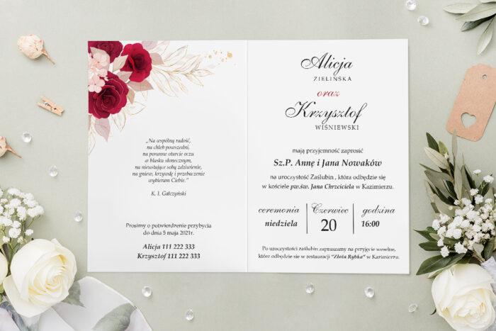 Zaproszenie ślubne - Geometryczne Kwiaty - wzór 5 - środek