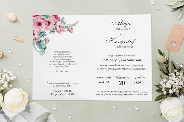 Zaproszenie ślubne - Geometryczne Kwiaty - wzór 5