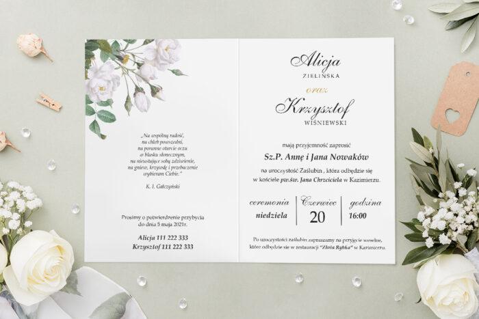 Zaproszenie ślubne - Geometryczne Kwiaty - wzór 6 - środek