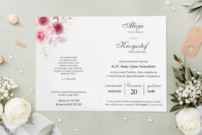 Zaproszenie ślubne - Geometryczne Kwiaty - wzór 7 - środek