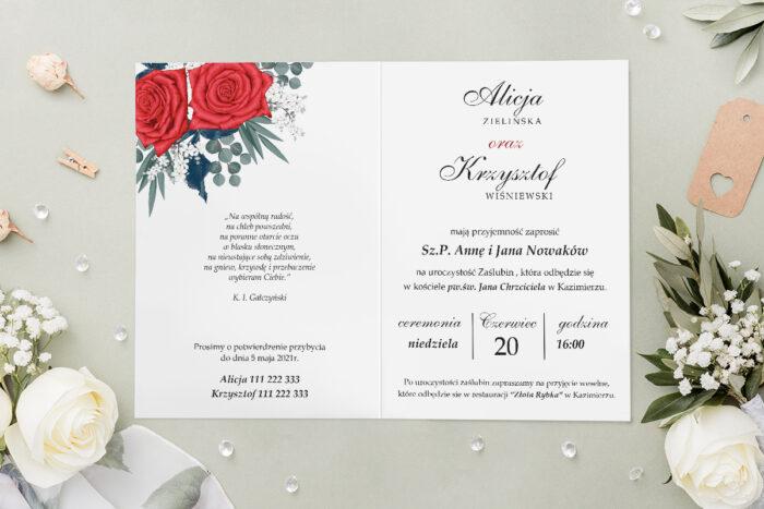 Zaproszenie ślubne - Geometryczne Kwiaty - wzór 9