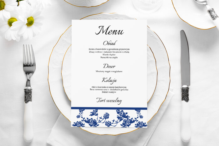menu-weselne-ornament-z-kokardka-granat-papier-satynowany