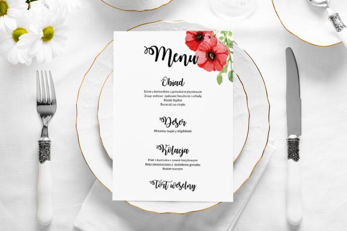 menu-weselne-rustykalne-kwiaty-maki-papier-satynowany