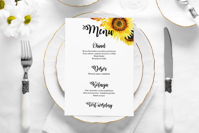menu-weselne-rustykalne-kwiaty-sloneczniki-papier-satynowany