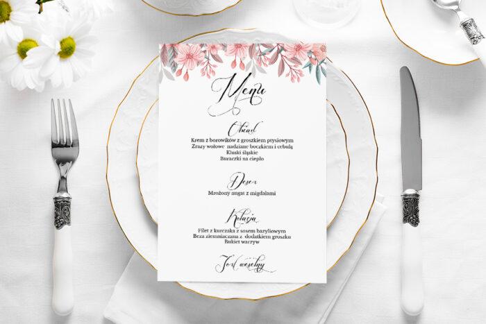 menu-weselne-wianuszki-pudrowe-kwiaty-papier-satynowany