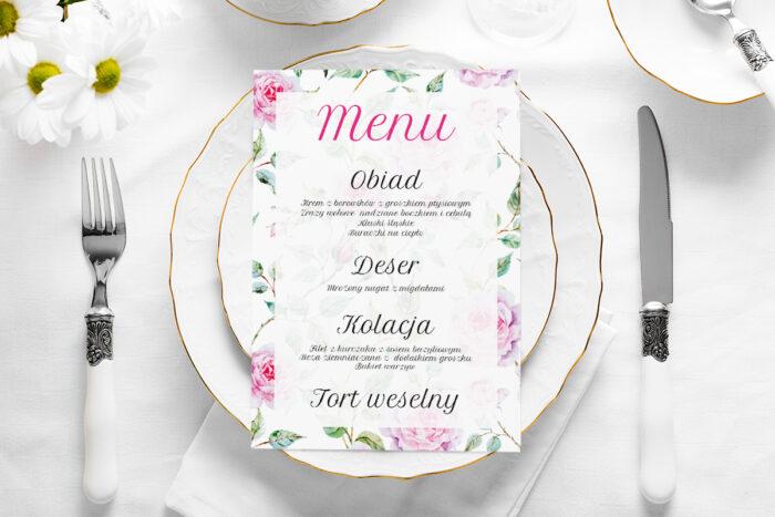 menu-weselne-vintage-kwiaty-roze-papier-satynowany
