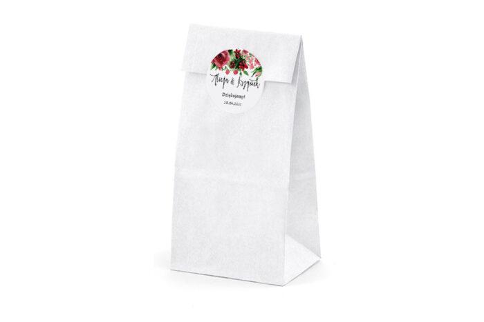 Naklejki-okragle-BOHO-Burgundowe-roze-1
