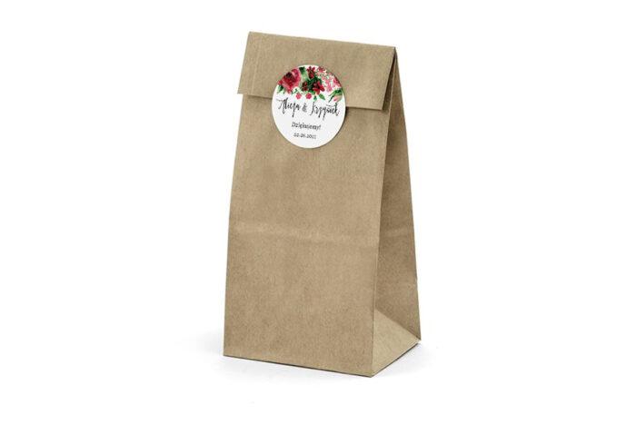 Naklejki-okragle-BOHO-Burgundowe-roze-2