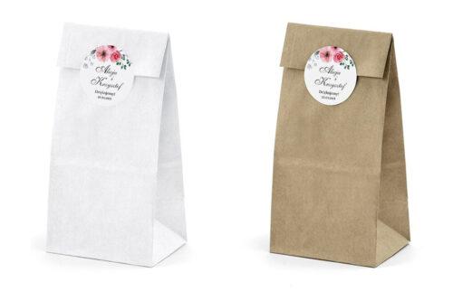Naklejki-okragle-Kwiaty-z-nawami-Kwiatuszki-pink