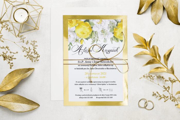 eleganckie-zaproszenie-slubne-kwiatyzloto-wzor-5-podkladki-podkladka-srebrna-b6-papier-matowy-350g-koperta-b6-szara-bez-wklejki-dodatki-sznurek-zloty-metalizowany