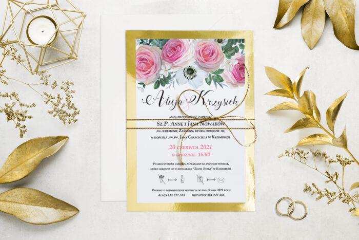 eleganckie-zaproszenie-slubne-kwiatyzloto-wzor-6-podkladki-podkladka-srebrna-b6-papier-matowy-350g-koperta-b6-szara-bez-wklejki-dodatki-sznurek-zloty-metalizowany