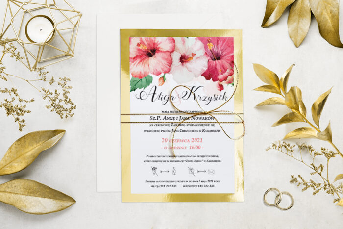 eleganckie-zaproszenie-slubne-kwiatyzloto-wzor-8-podkladki-podkladka-srebrna-b6-papier-matowy-350g-koperta-b6-szara-bez-wklejki-dodatki-sznurek-zloty-metalizowany