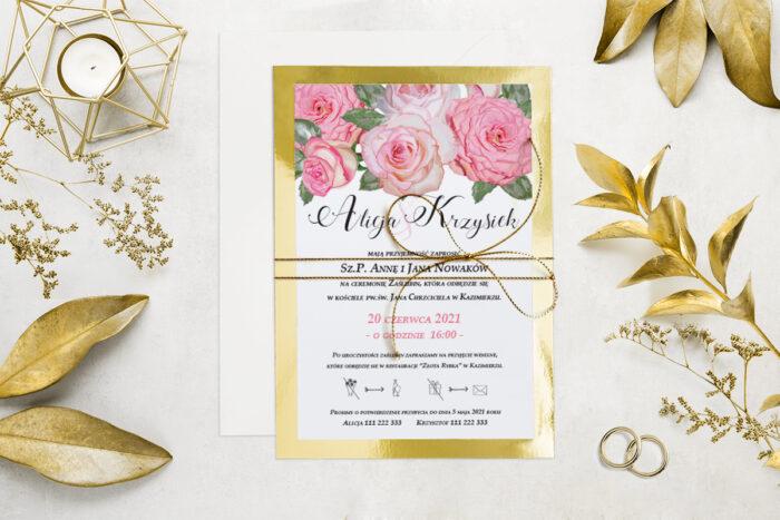 eleganckie-zaproszenie-slubne-kwiatyzloto-wzor-10-podkladki-podkladka-srebrna-b6-papier-matowy-350g-koperta-b6-szara-bez-wklejki-dodatki-sznurek-zloty-metalizowany