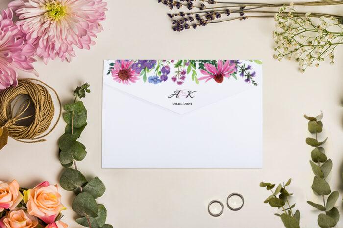 Zaproszenie ślubne - Rozkładana koperta - wzór 1