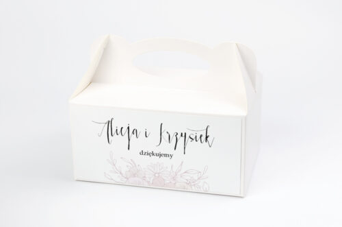 Pudełko na ciasto pasujące do zaproszeń na pleksie - wzór 13