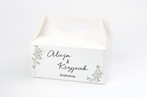 Pudełko na ciasto pasujące do zaproszeń na pleksie - wzór 14