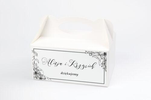 Pudełko na ciasto pasujące do zaproszeń na pleksie - wzór 2