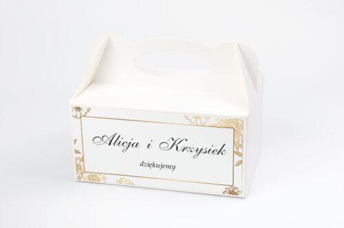 Pudełko na ciasto pasujące do zaproszeń na pleksie - wzór 5