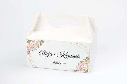 Pudełko na ciasto pasujące do zaproszeń w pudełeczku - wzór 1