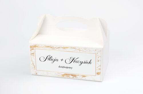 Pudełko na ciasto pasujące do zaproszeń w pudełeczku - wzór 10