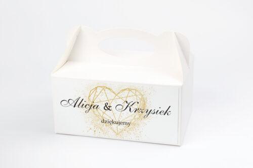 Pudełko na ciasto pasujące do zaproszeń w pudełeczku - wzór 11