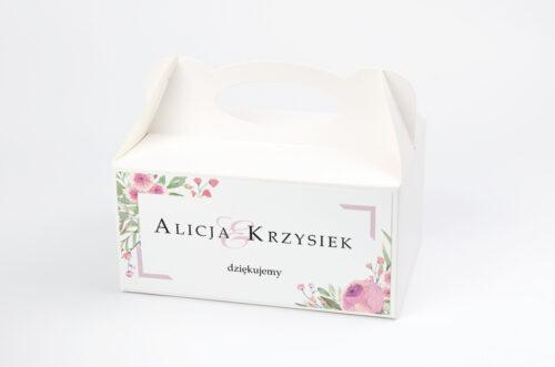 Pudełko na ciasto pasujące do zaproszeń w pudełeczku - wzór 12