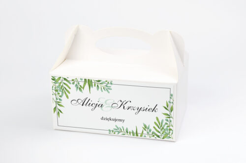 Pudełko na ciasto pasujące do zaproszeń w pudełeczku - wzór 13